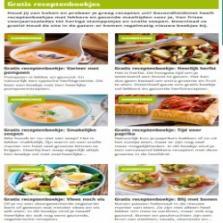 Diverse gratis recepten boekjes