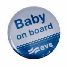 Gratis Baby on board button