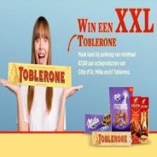 Win een XXL Toblerone van 4,5 kilogram